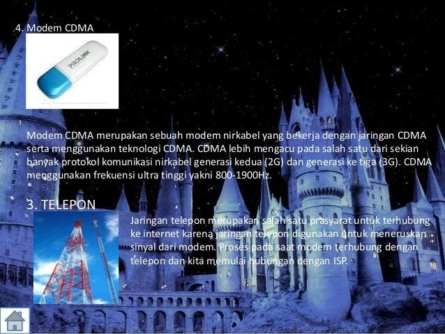 4. Modem CDMA Modem CDMA merupakan sebuah modem nirkabel yang bekerja dengan jaringan CDMA serta menggunakan teknologi CDM...
