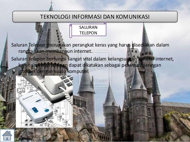 Saluran Telepon merupakan perangkat keras yang harus disediakan dalam rangka akan membangun internet. Saluran telepon berf...