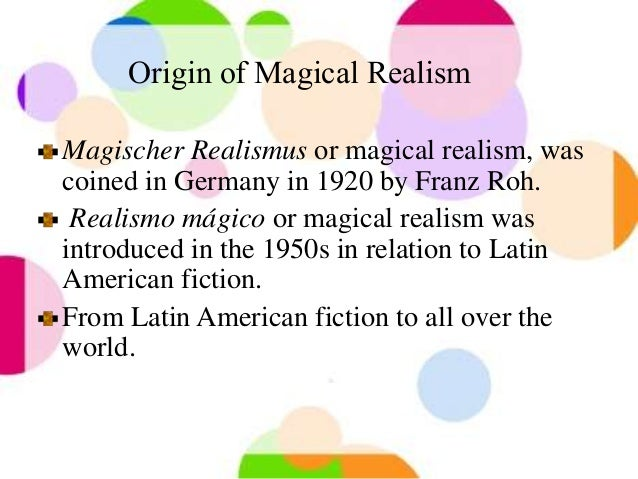 seminal work of magic realism Some features of this site may not work without it as well as exploring the influence of two seminal latin american magical accounts for magical realism's.