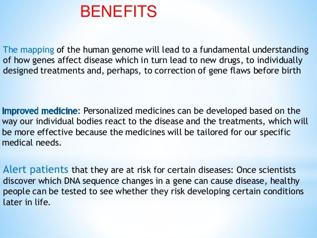 human genome project benefits