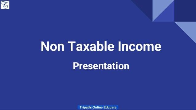 exempt income non taxable income