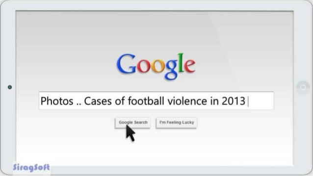 Photos .. Cases of football violence in 2013