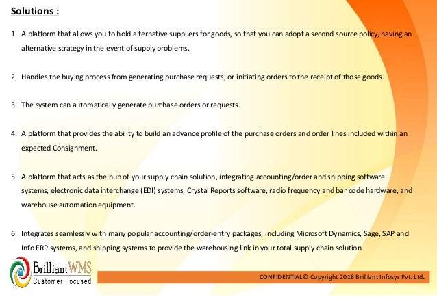 Brilliant warehouse Management -case study 3