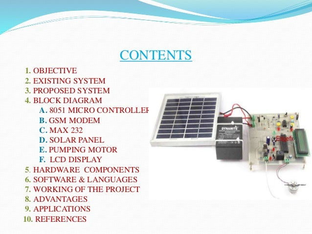 Energy Management In An Automated Solar Powered Irrigation