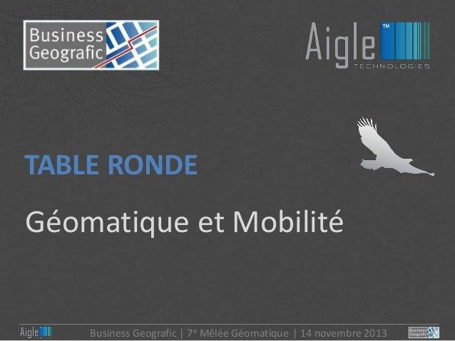 6- Géomatique et Mobilité Clients Aigle Mobile de Business Geografic Slide 2