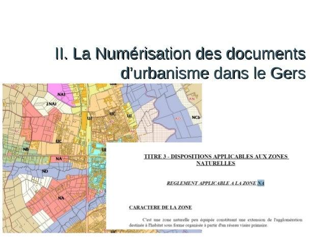 II. La Numérisation des documents d'urbanisme dans le Gers