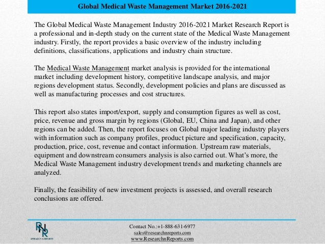 Global Medical Waste Management Market Research Report 2016