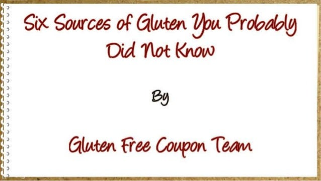 Six Sources of Gluten You Probably Did Not Know Slide 2