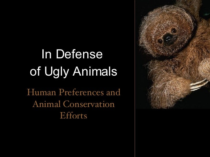 In Defense  of Ugly Animals Human Preferences and Animal Conservation Efforts