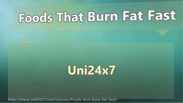 Foods That Burn Fat Fast Slide 2
