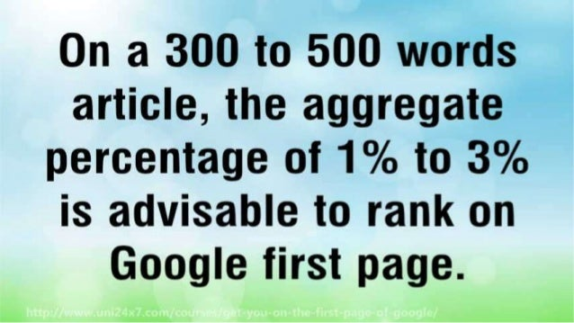 Get You On The First Page Of Google