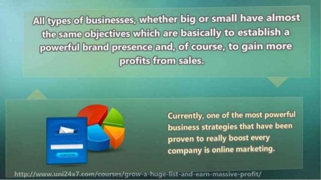 Grow a Huge List and Earn Massive Profit Slide 3