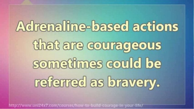 How To be strong and courageous