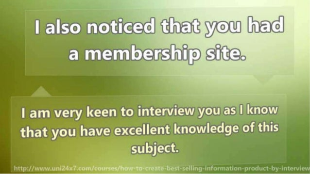 How To Create Best Selling Information Product By Interviewing Experts