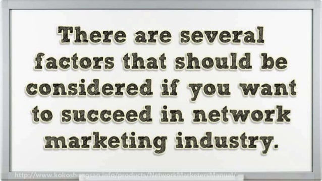 How to Have a Successful Career in Network Marketing Slide 3
