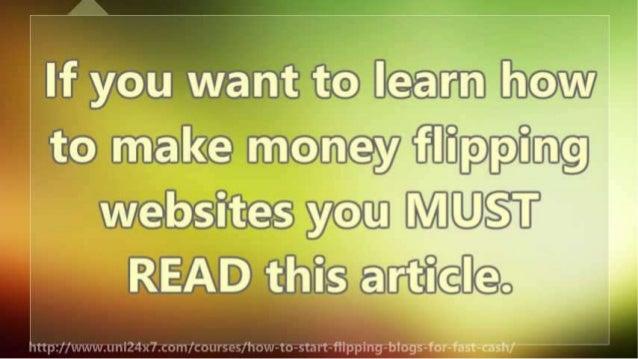 How To Start Flipping Blogs for Fast Cash Slide 3