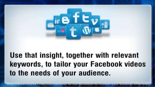How to Use Facebook to market your business effectively