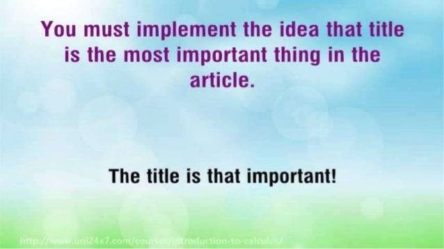 How to Write an Article That Will Bring Your Profits