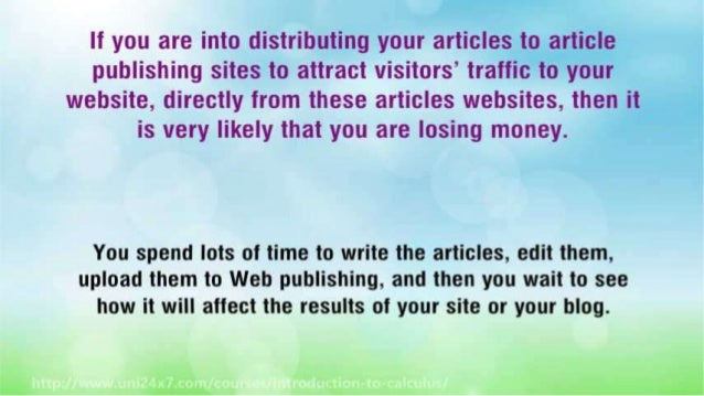 How to Write an Article That Will Bring Your Profits Slide 3