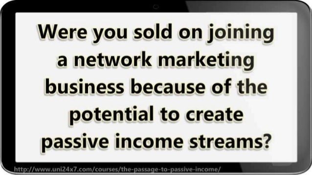 Passive Income Streams with Network Marketing Slide 3