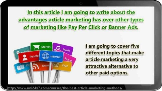 The Best Article Marketing Methods Slide 3