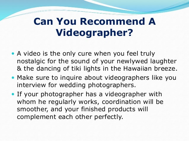 Ppt 8 Questions To Ask A Hawaii Wedding Photographer