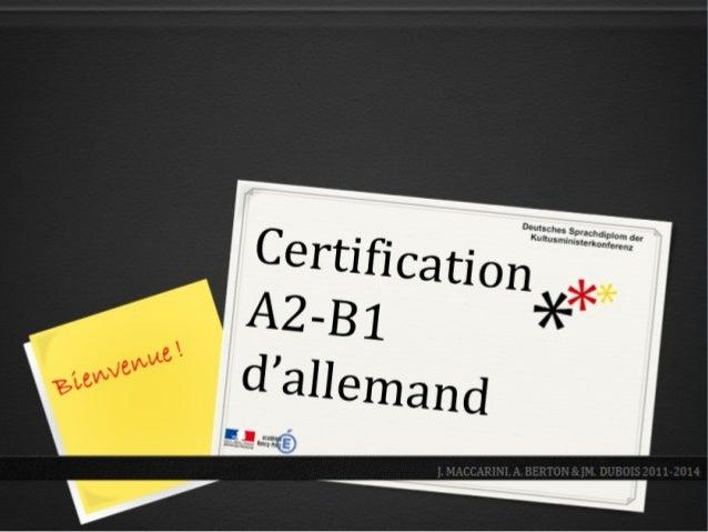2Seite: Pour permettre à vos élèves d'attester de leurs compétences … Pour les valoriser … J. Maccarini – A. Berton – J.M....