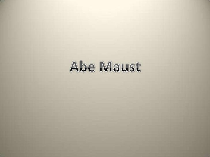Abe Maust<br />