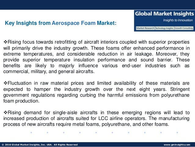 Aerospace Foam Market – Growth Opportunities and Challenges
