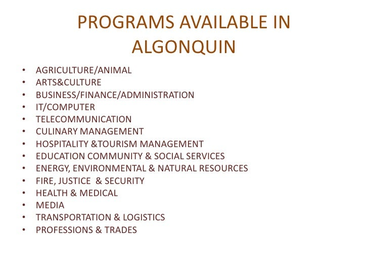 algonquin college hospitality View 23 courses offered by algonquin college see fees, exam cutoffs,  scholarships and admissions process.