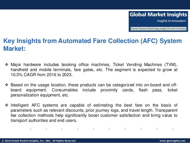 afc automatic fare collection system industry Automated fare collection (afc) system market - global industry analysis and forecast 2015 - 2021 china china and india are focusing on building better commutation facilities such as high speed train, metro train and mono rail.