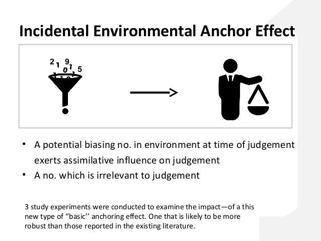 anchoring effect Anchoring effect anchoring is a cognitive bias that describes the common human tendency to rely too heavily on the first piece of information offered (the anchor.