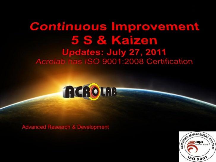 Advanced Research & Development                                  1