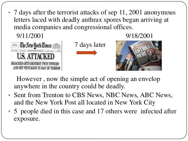 Flashback 2001 Anthrax Attacks That Were Focused On The Media