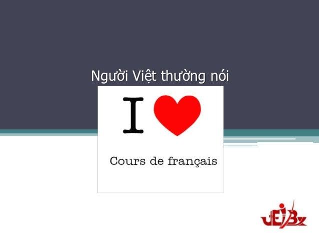 Người Việt thường nói