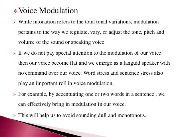how to make a voice modulator