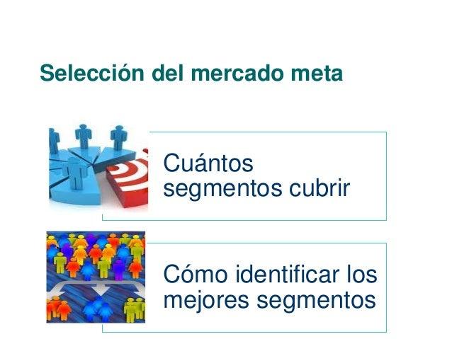 Selección del mercado meta  Cuántos  segmentos cubrir  Cómo identificar los  mejores segmentos