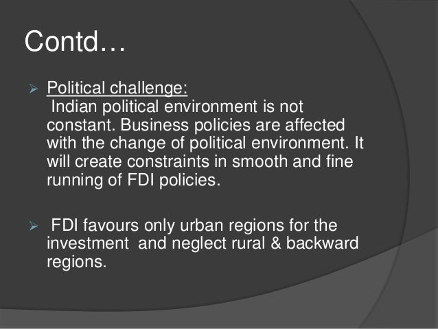 impact of indian political environment on business