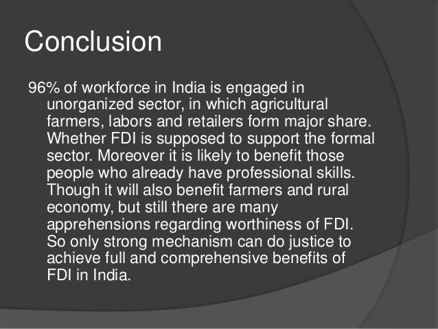 impact of fdi in india Does foreign direct investment accelerate economic growth  (fdi) and many  panel estimator to extract consistent and efficient estimates of the impact of fdi.