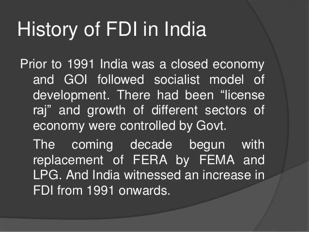 impact of fdi on indian consumer A high inflation rate also impacts capital of india adopted the consumer price index as economic factors and foreign direct investment in india.