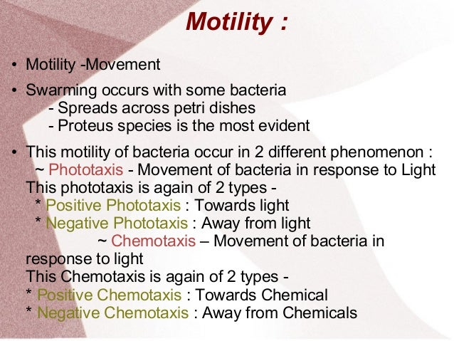 a look at the three different types of flagella movements All the results obtained are compatible with the hypothesis that the motility of flagellated bacteria is due to active movement of their flagella during work on the table 3 eflect of blendor treatment of varying duration on the motility jlagellation and viable count of a suspension of salmonella typhimurium a log- phase 37.