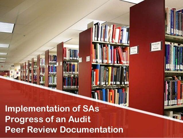 Implementation of SAsProgress of an AuditPeer Review Documentation