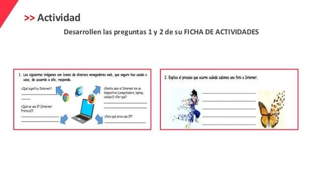 >> Actividad Desarrollen las preguntas 1 y 2 de su FICHA DE ACTIVIDADES
