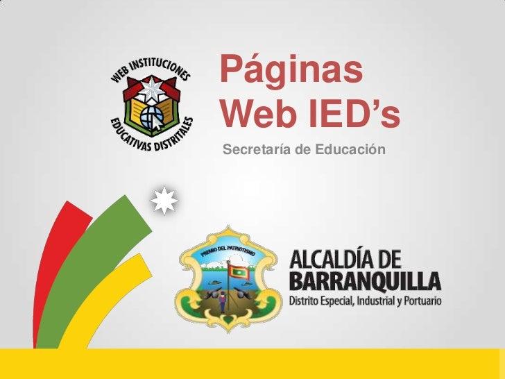 PáginasWeb IED'sSecretaría de Educación