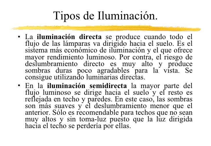 Ppt iluminaci n - Tipos de iluminacion ...