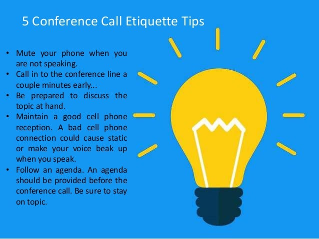 Importance on Conference Call Etiquette