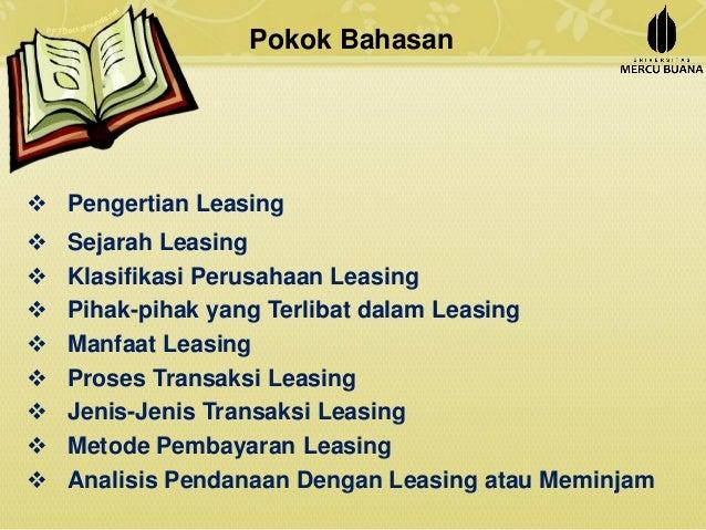 Ppt Manajemen Keuangan Leasing