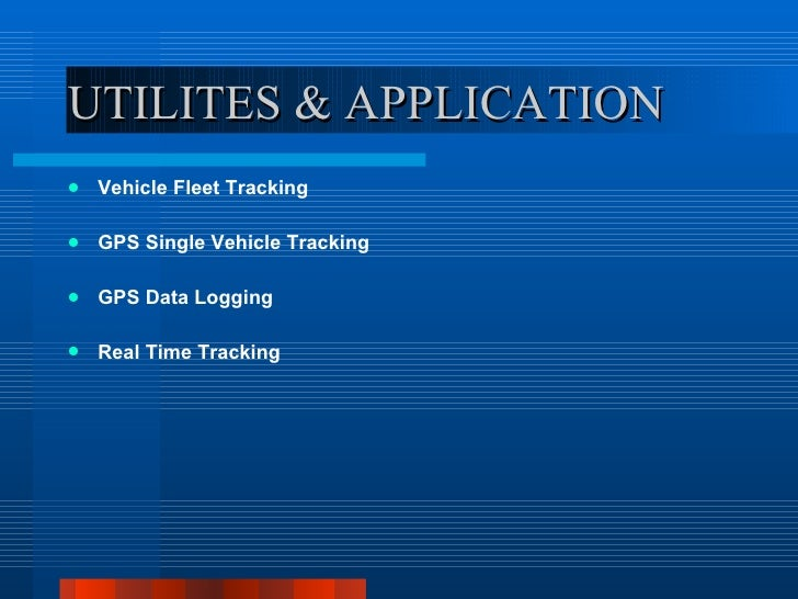 Ppt Local Tracking And Gps