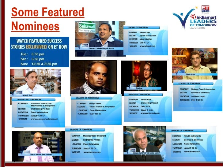 Some Featured Nominees