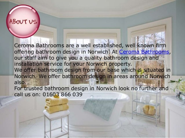 Bathroom installation and fitters in norwich ceroma for Bathroom design norwich